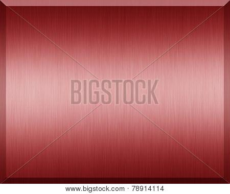 Red Metallic Plate