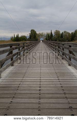 Bridge At Saint Nikolaos Monastery. Porto Lagos Area At Thrace, Greece.