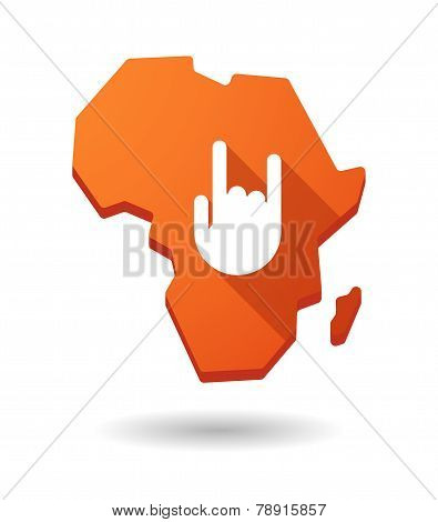 Africa Continent Map Icon With A Hand