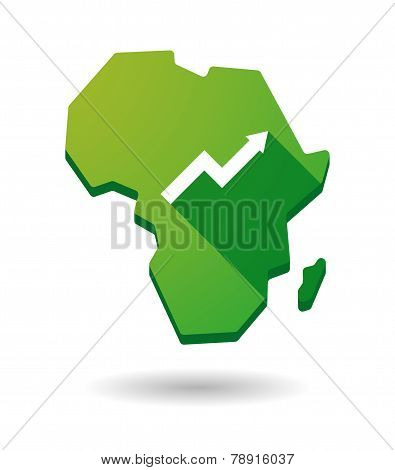 Africa Continent Map Icon With A Graph