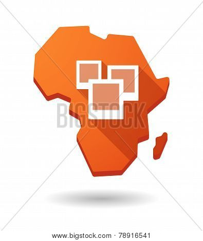 Africa Continent Map Icon With A Bunch Of Photos