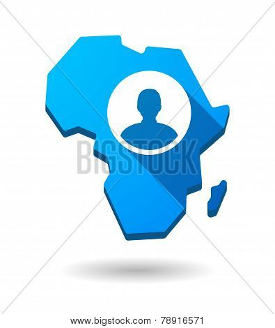 Africa Continent Map Icon With An Avatar