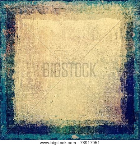 Art grunge vintage textured background. With different color patterns: gray; green; blue; cyan
