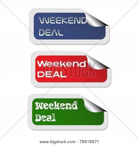 Weekend deal stickers
