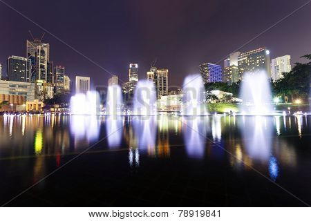 music fountain  in the square of KLCC,kuala lumpur