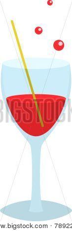 Cristal con copa roja