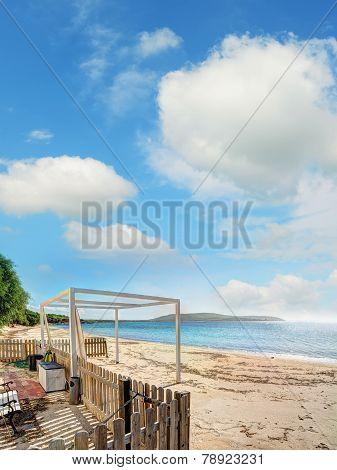 Mugoni Shoreline Under A Cloudy Sky
