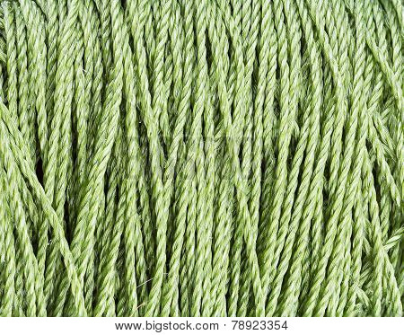Green Nylon Rope Texture Pattern