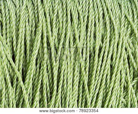 Green Nylon Rope Texture Pattern