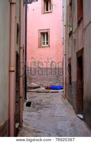 Backstreet In Bosa, Italy