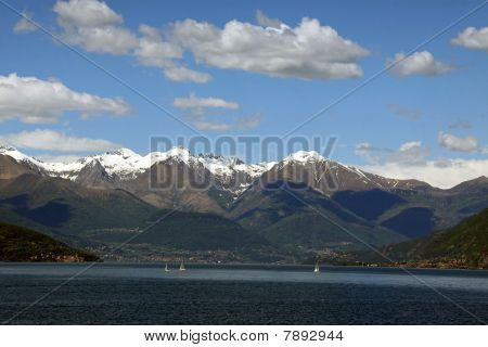 Treviso mountain view from Lake Como