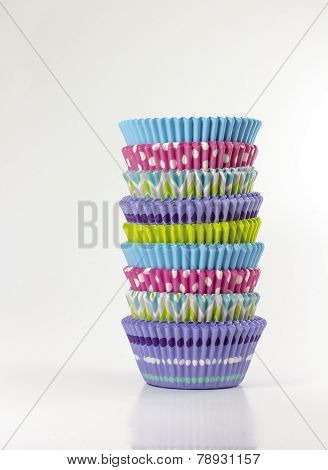 Stack of cupcake wrappers
