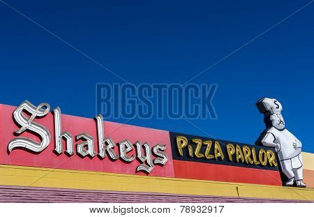Shakey's Pizza Restaurant Sign