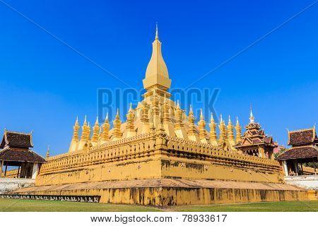 Pha That Luang, Vientiane, Laos.