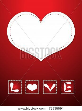Red Love card