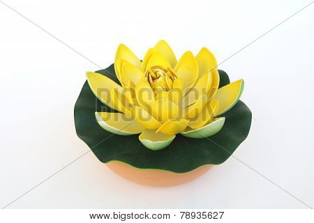 Yellow Artificial Lotus