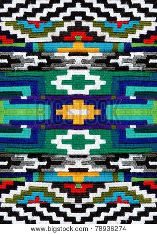 wool Strips-belt With Colorful Designs