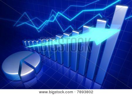 finanzielles Wachstum Businesskonzepte