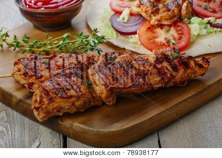grilled chicken shawarma