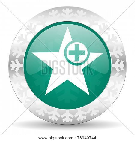 star green icon, christmas button, add favourite sign