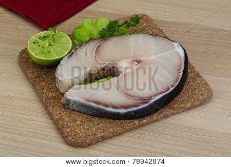 Raw Blue Shark Steak