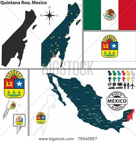 Map Of Quintana Roo, Mexico