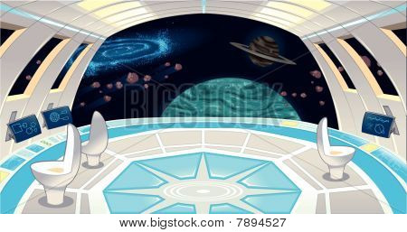 Spaceship interior.