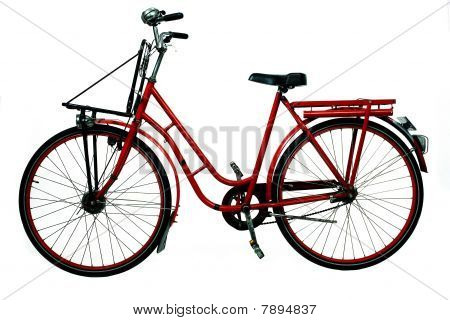 retro red bicycle