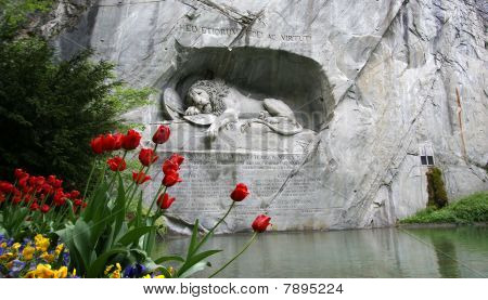 Lucerne, Switzerland, Lion Monument