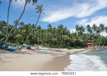 Sri Lankan traditional fishing boats