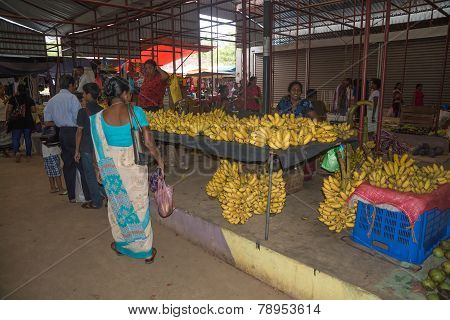 Banana vendor in the market