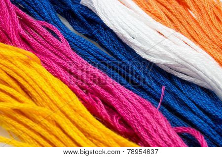 Several Strands Of Colored Cotton