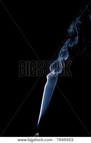 Real Spiraling Incense Smoke