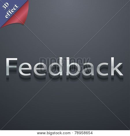 Feedback Icon Symbol. 3D Style. Trendy, Modern Design With Space For Your Text Vector