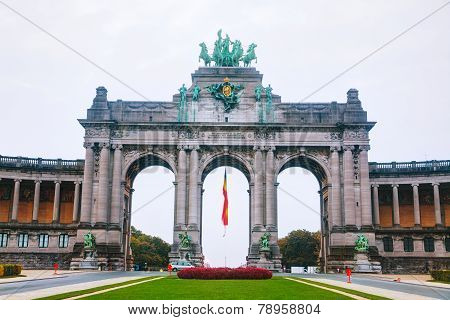 Triumphal Arch In Brussels