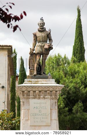 Statue Of Miguel De Cervantes, Author Of Don Quixote