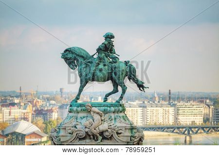 Statue Of Prince Eugene Of Savoy At The Royal Castle