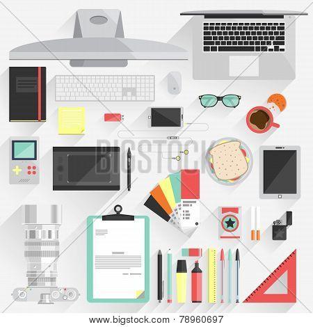 Flat Modern Design Vector Illustration Concept