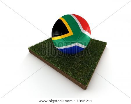 (ball Painted In Flag Of South Africa)