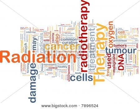 Radiation Therapy Background Concept