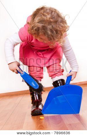 Little Girl Helping