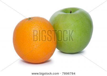 orange and green apple
