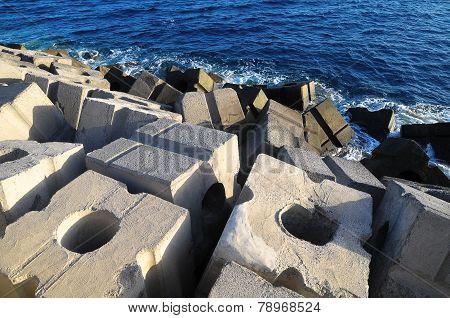 Cubes of Cement Breakwater