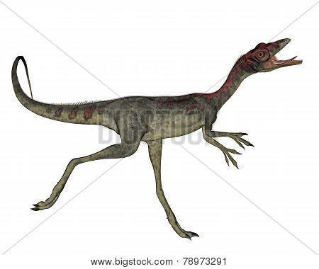 Compsognathus dinosaur running - 3D render