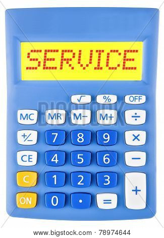 Calculator With Service On Display