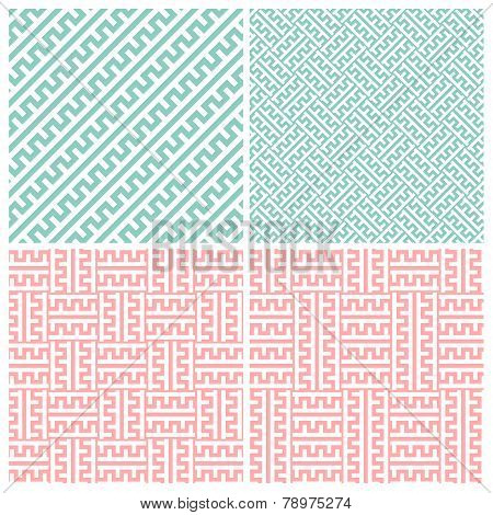 Set of four zipper patterns