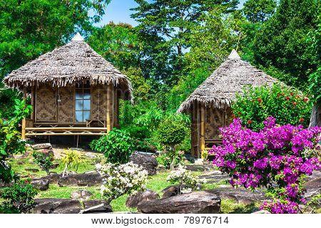 Wooden Bungalow Resort In Ko Phi Phi Island, Thailand