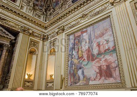 Santa Maria Trastevere Church In Rome