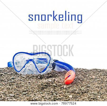 Goggles And Snorkel To Swim