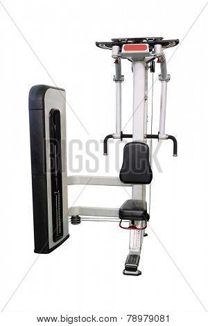 gym apparatus under te white background